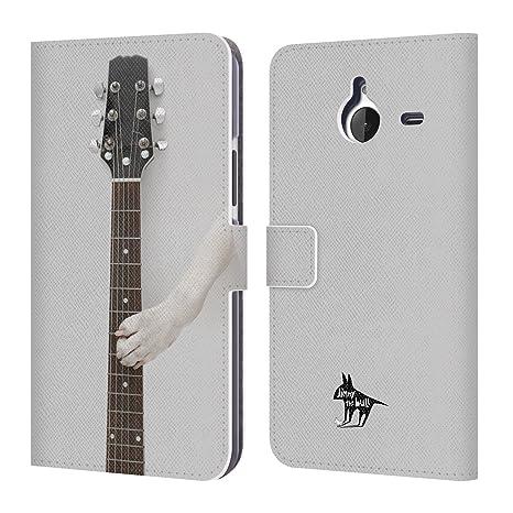 Oficial Jimmy The Bull Animal Perro Carcasa Tipo Cartera de piel Para Microsoft Nokia Teléfonos