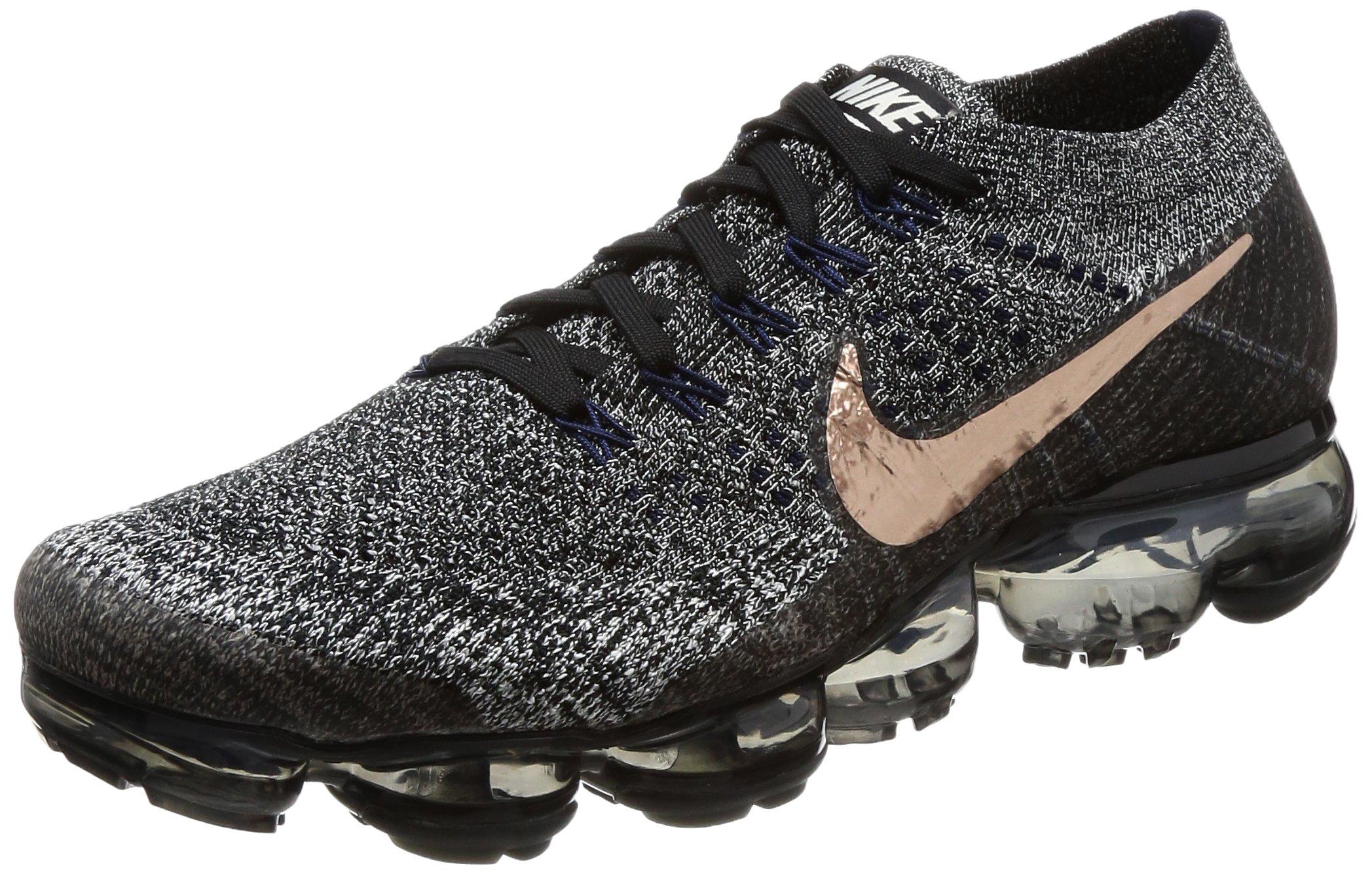 6e69b43f945 Galleon - Nike Air Vapormax Flyknit 849558 010 Black Metallic Red Bronze  Men s Shoes (9.5)