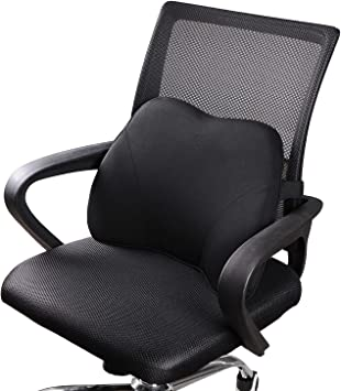 Amazon Com Dreamer Car Office Chair Cushion For Lower Back Pain Mini Back Support With Adjustable Strap For Lower Open Back Chair Computer Chair Etc Premium Memory Foam Lumbar Support Never Get Flatten Black