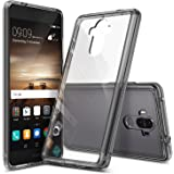 Huawei Mate 9 Case, Ringke [FUSION] Tough PC Back TPU Bumper [Drop Protection/Shock Absorption Technology][Attached Dust Caps] Raised Bezels Protective Cover For Huawei Mate 9 - Smoke Black
