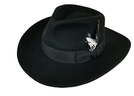 cc3a867ee9f Different Touch Men s 100% Soft   Crushable Wool Felt Indiana Jones Style  Cowboy Fedora Hats