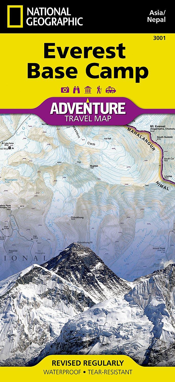 Everest Base Camp, Nepal: Travel Maps International Adventure Map (National Geographic Adventure Map, Band 3001)