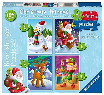Fingerfarbe Weihnachten.Ravensburger My First Puzzle Weihnachten Friends 2 3 4 5