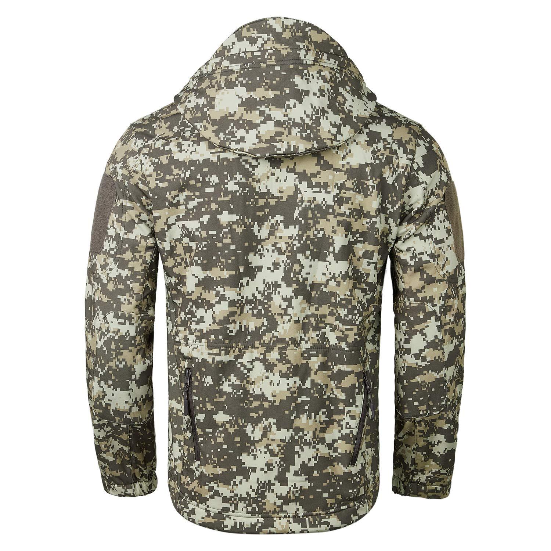 69b283bd460e2 Amazon.com: YIMANIE Men's Outdoor Rain Waterproof Soft Shell Hooded  Outerwear Camouflage Tactical Jacket Windbreaker Coats: Clothing
