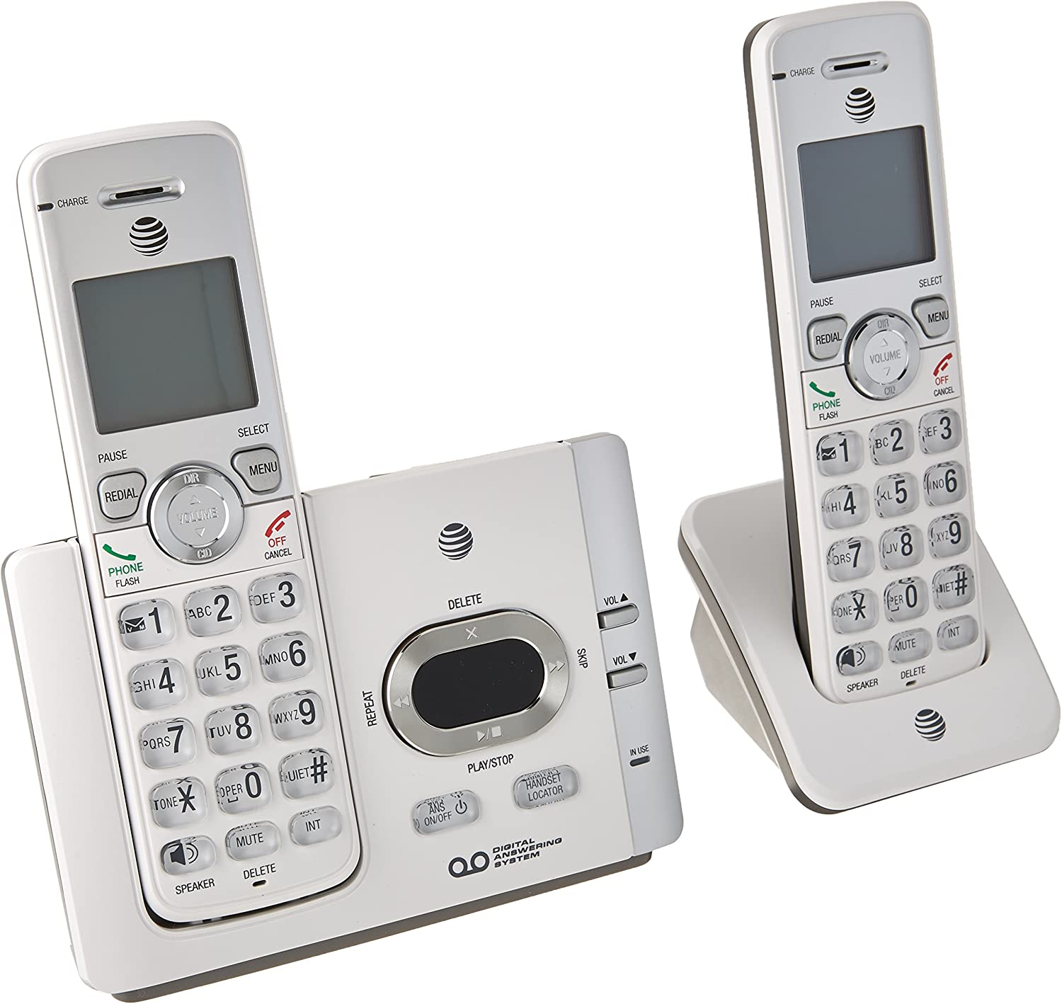 AT&T EL52215 Dect 6.0 Answering System with Caller ID/Call Waiting Landline Telephone Accessory,Gray