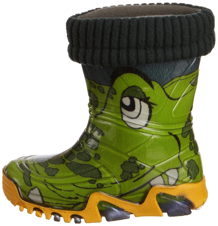 Toughees Shoes Kids Warm Fleece-Sock Croc Wellies Wellingtons Boot AL_2680