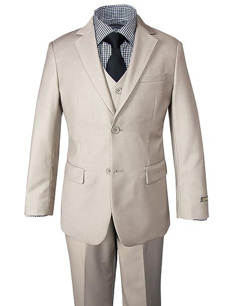 Amazon.com: Primavera Noción Boys traje y Gingham shirt set ...