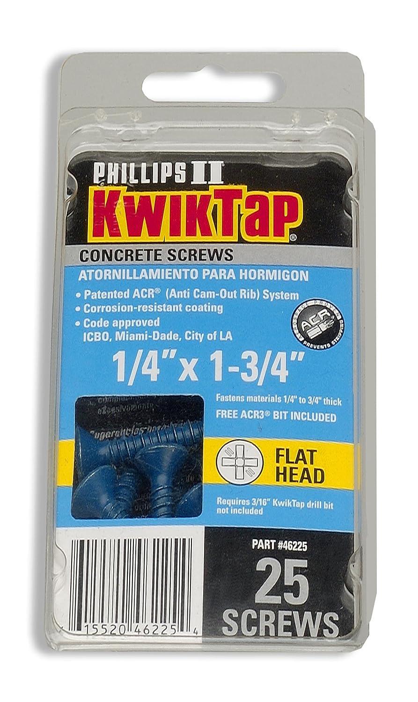 46125 1//4 x 1-1//4 PFH 25pk Concrete Screws