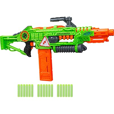Revoltinator Nerf Zombie Strike Toy Blaster with motorized Lights Sounds & 18 Official Darts for Kids, Teens, & Adults: Toys & Games
