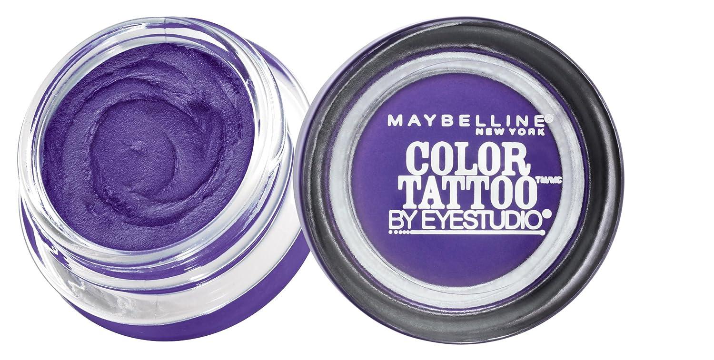 Maybelline New York Eyestudio ColorTattoo Metal 24HR Cream Gel Eyeshadow, Painted Purple, 0.14 Ounce (1 Count)