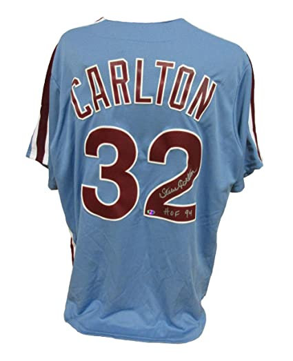 Signed Steve Carlton Jersey - Powder Blue inscribed HOF 94 - Autographed  MLB Jerseys fb8870d8488
