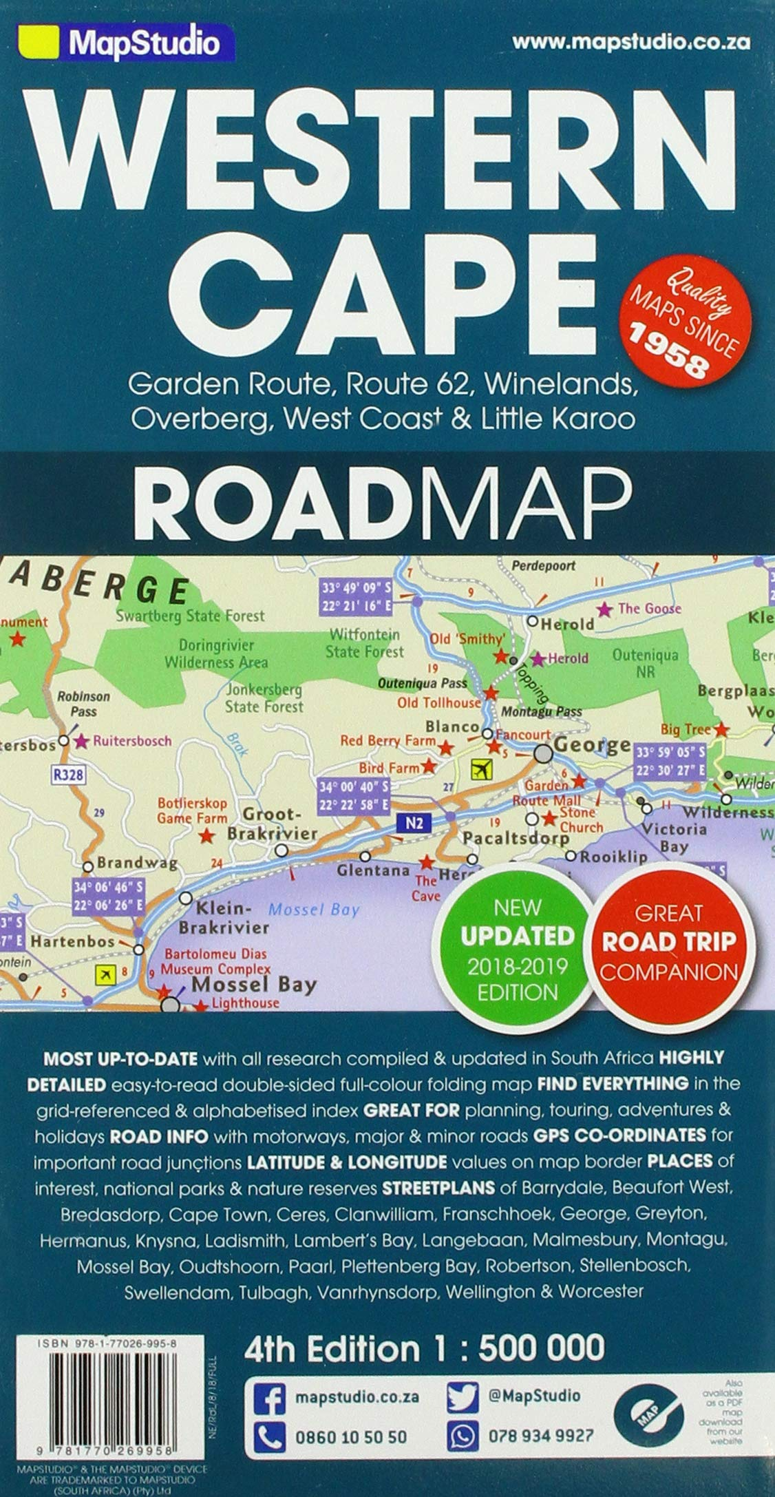 detailed map of western cape south africa Buy Road Map Western Cape Book Online At Low Prices In India detailed map of western cape south africa