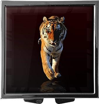 metALUm Pastillero/Cuadrado/Modelo Marco/Animales salvajes/Tigre / 41010023: Amazon.es: Salud y cuidado personal