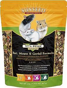 Sunseed 36044 Vita Prima Sunscription Rat, Mouse And Gerbil Food - High-Variety Formula - 2 LBS