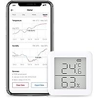 SwitchBot Thermometer Hygrometer Draadloze Temperatuur Vochtigheidssensor met Waarschuwingen, voor Sigaar Humidor en…