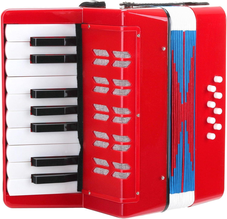 Classic Cantabile Bambino acordeon para niños, rojo, 8 bajos