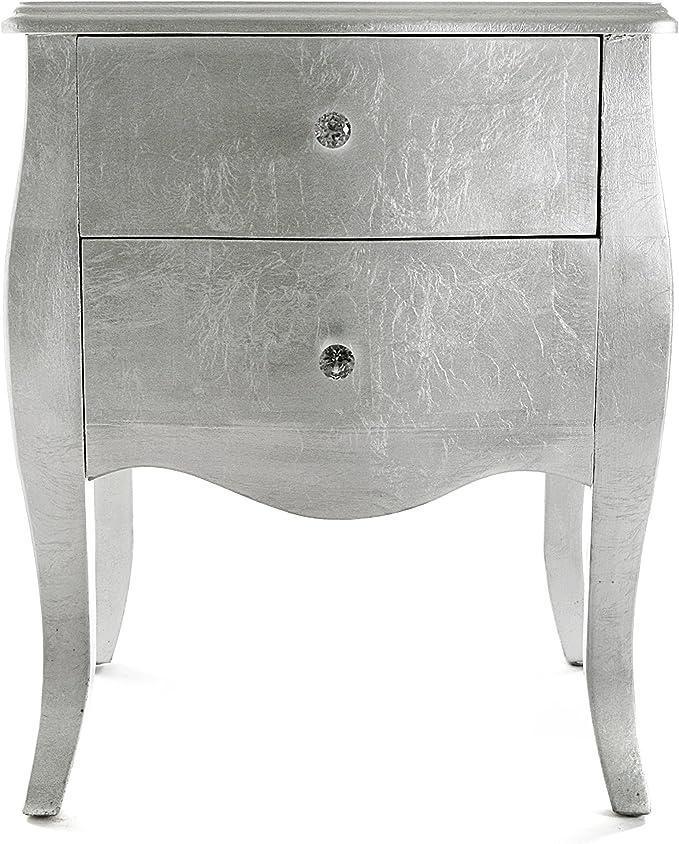 Versa 21260022 Table de Chevet Confortable en Bois Dor/é 60 x 39 x 50 cm