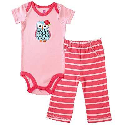 Hudson Body bébé Gilet et pantalon Ensemble rose chouette rose 3-6 mois
