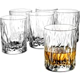 Double Old Fashioned Whiskey glasses - Set of 6 - Whiskey Glass set, 11 ¾ Ounce Crystal Clear Cocktail Glasses Barware…