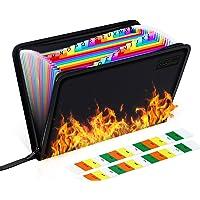 25 Pockets Fireproof File Folder Organizer A4/Letter Size Water Resistant Document Bag Money Briefcase Filing Folder…