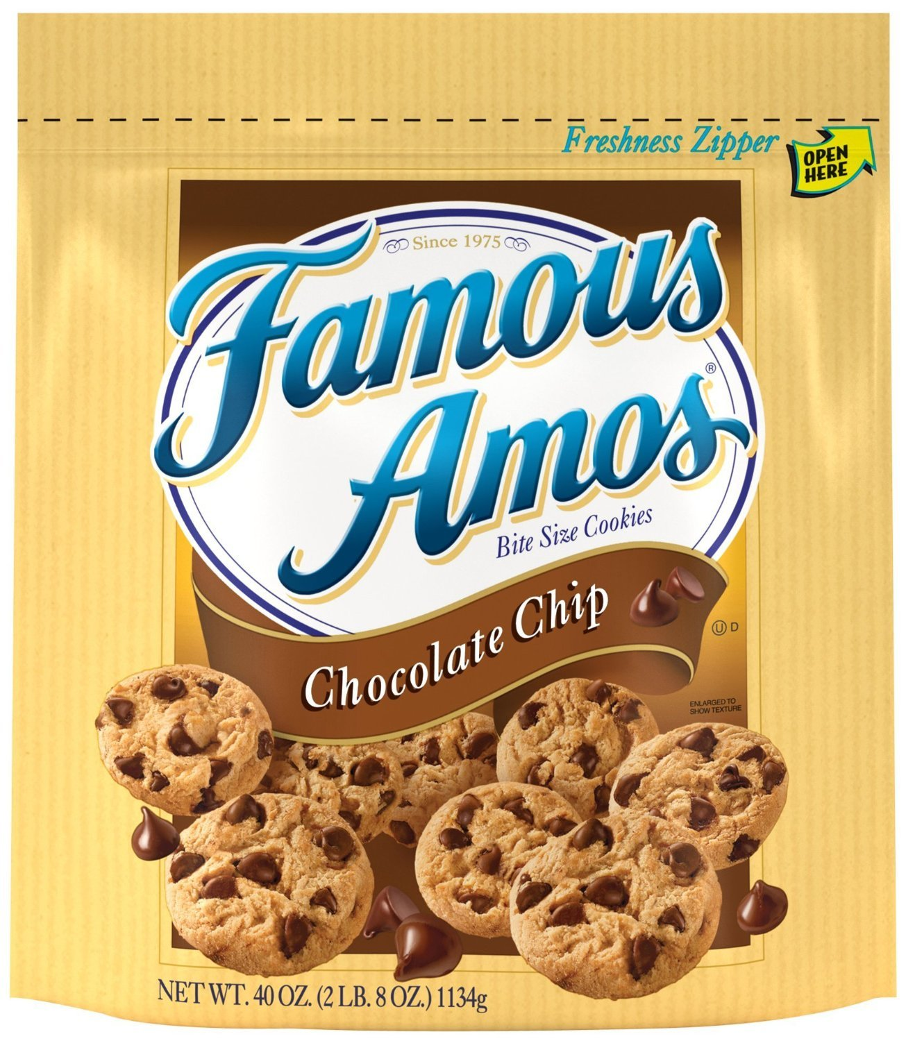 Worksheet Famous Amos amazon com famous amos bite size cookies chocolate chip 40 ounce bag