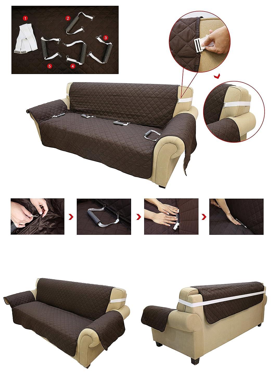 KINLO Funda de sofá Apta para sofás Normales de 1 plazas Sofa Protector Cubierta 177×56cm (Azul Oscuro/Azul Claro)