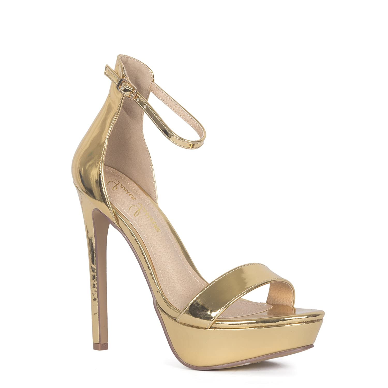 Lauren Lorraine Silver Darlene Platform Special Occasion Sandal B07C2B2B99 9 B(M) US|Gold