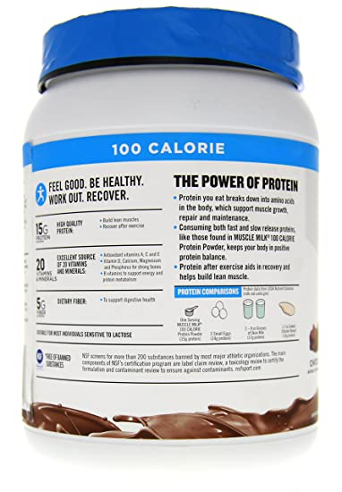 90d39c9a03b Amazon.com  CytoSport Muscle Milk 100 Calories 2-pack Chocolate 1.65 lb  (750g)  Health   Personal Care