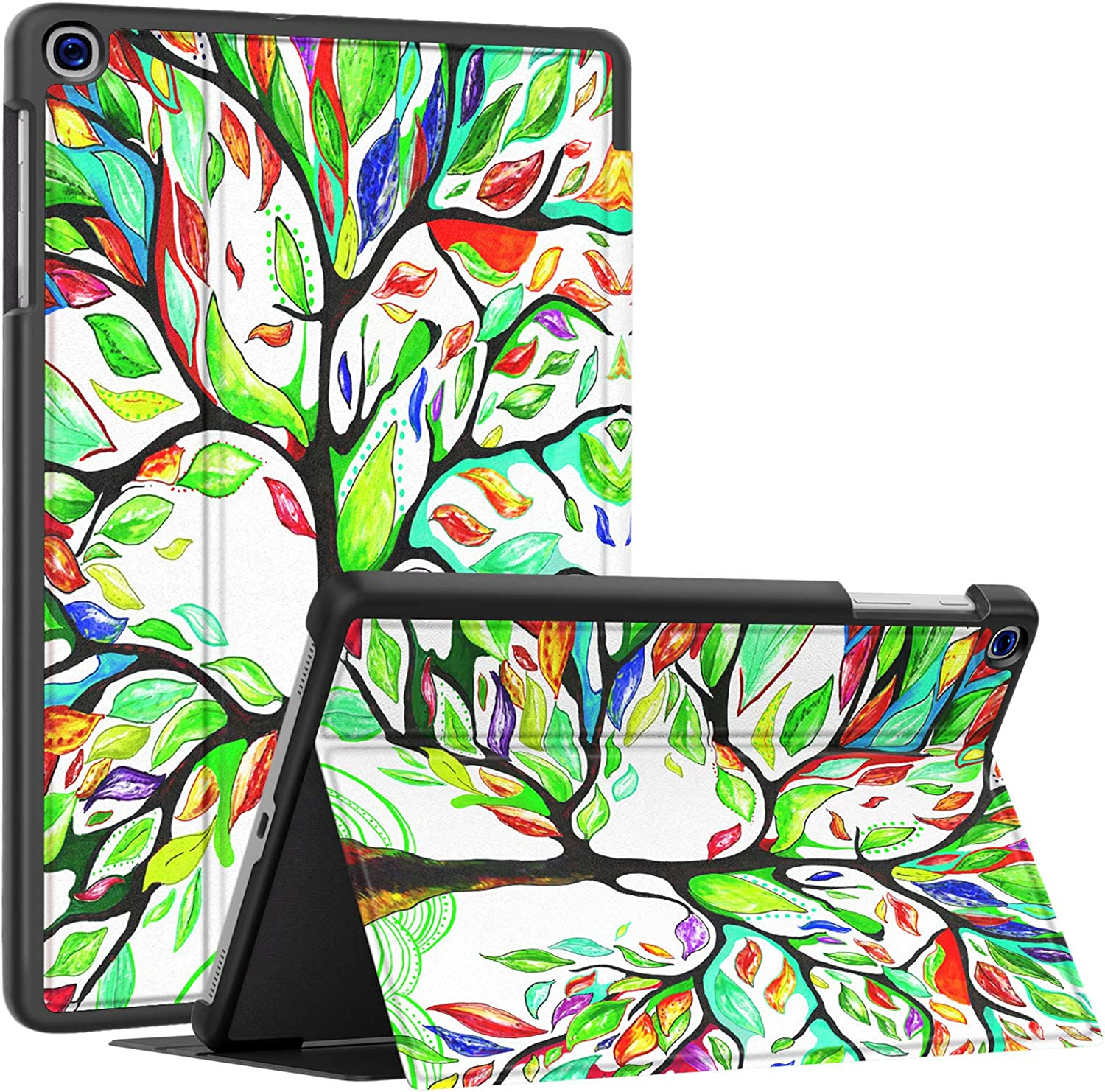 Soke Galaxy Tab A 10.1 Case 2019, Premium Shock Proof Stand Folio Case,Multi- Viewing Angles, Soft TPU Back Cover for Samsung Galaxy Tab A 10.1 inch Tablet [SM-T510/T515/T517],Lucky Tree