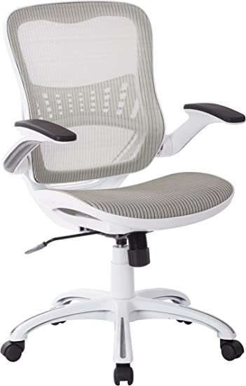 Amazon Com Work Smart Ave Six Riley Office Chair White Mesh Kitchen Dining