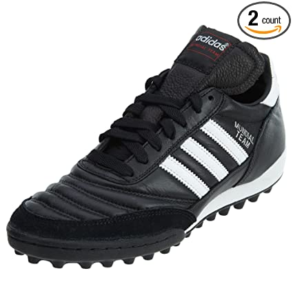 adidas Men's Mundial Team Soccer Shoes (Black, White - Size 8)