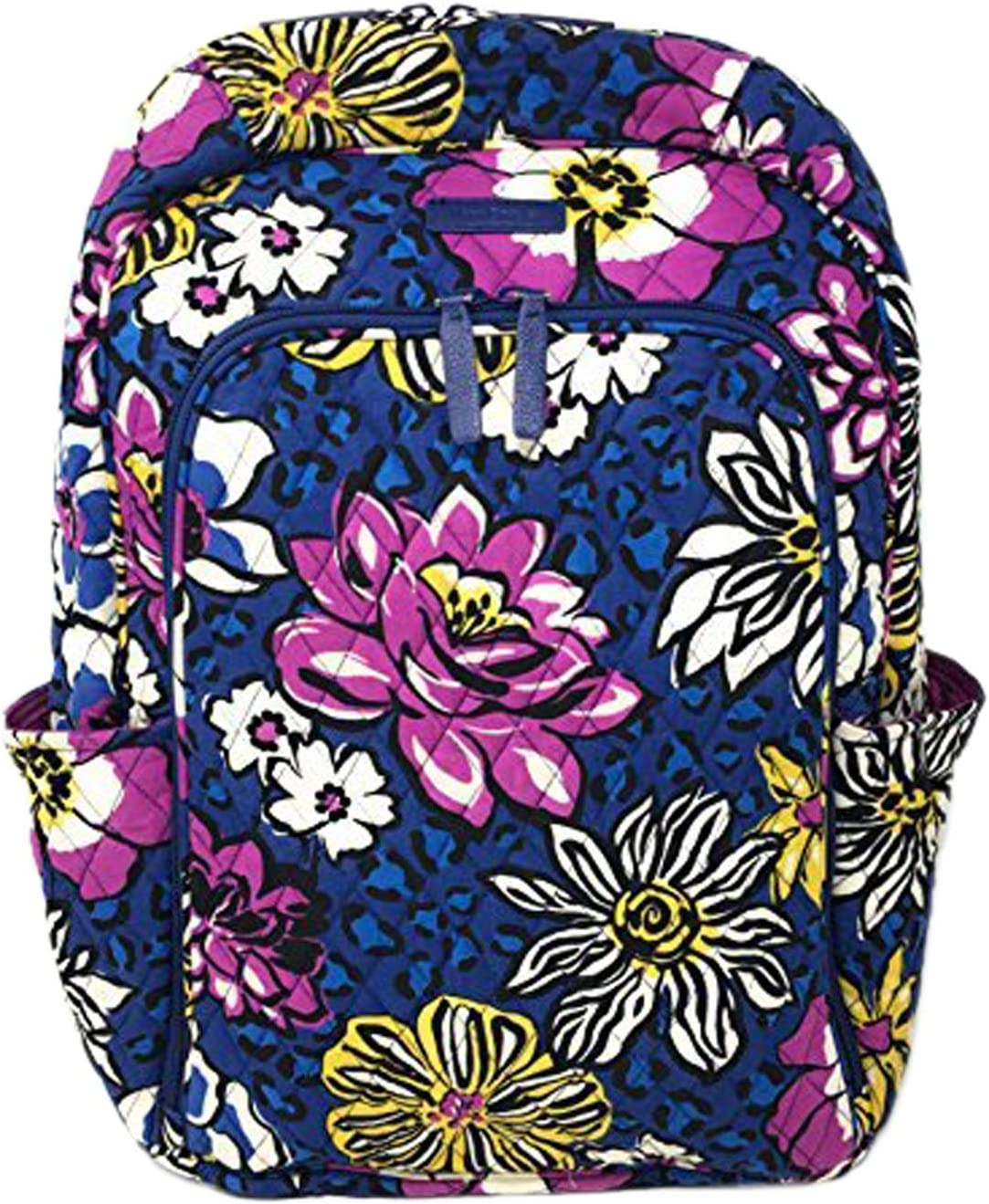 Vera Bradley Laptop Backpack Updated Version with Solid Color Interiors African Violet with Purple Interiors , Large