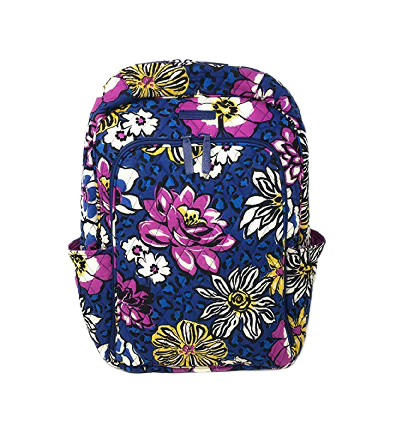 Vera Bradley Laptop Backpack (Updated Version) with Solid Color Interiors (African Violet with Purple Interiors), Large by Vera Bradley