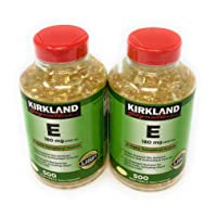 Kirkland Signature, Vitamin E 400 IU brdqt 500 Softgels (Pack of 2)