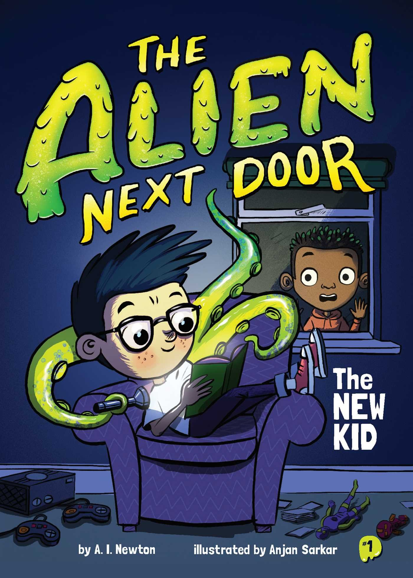 The Best Chapter Books for 1st Graders featured by top Seattle lifestyle blogger, Marcie in Mommyland: The Alien Next Door