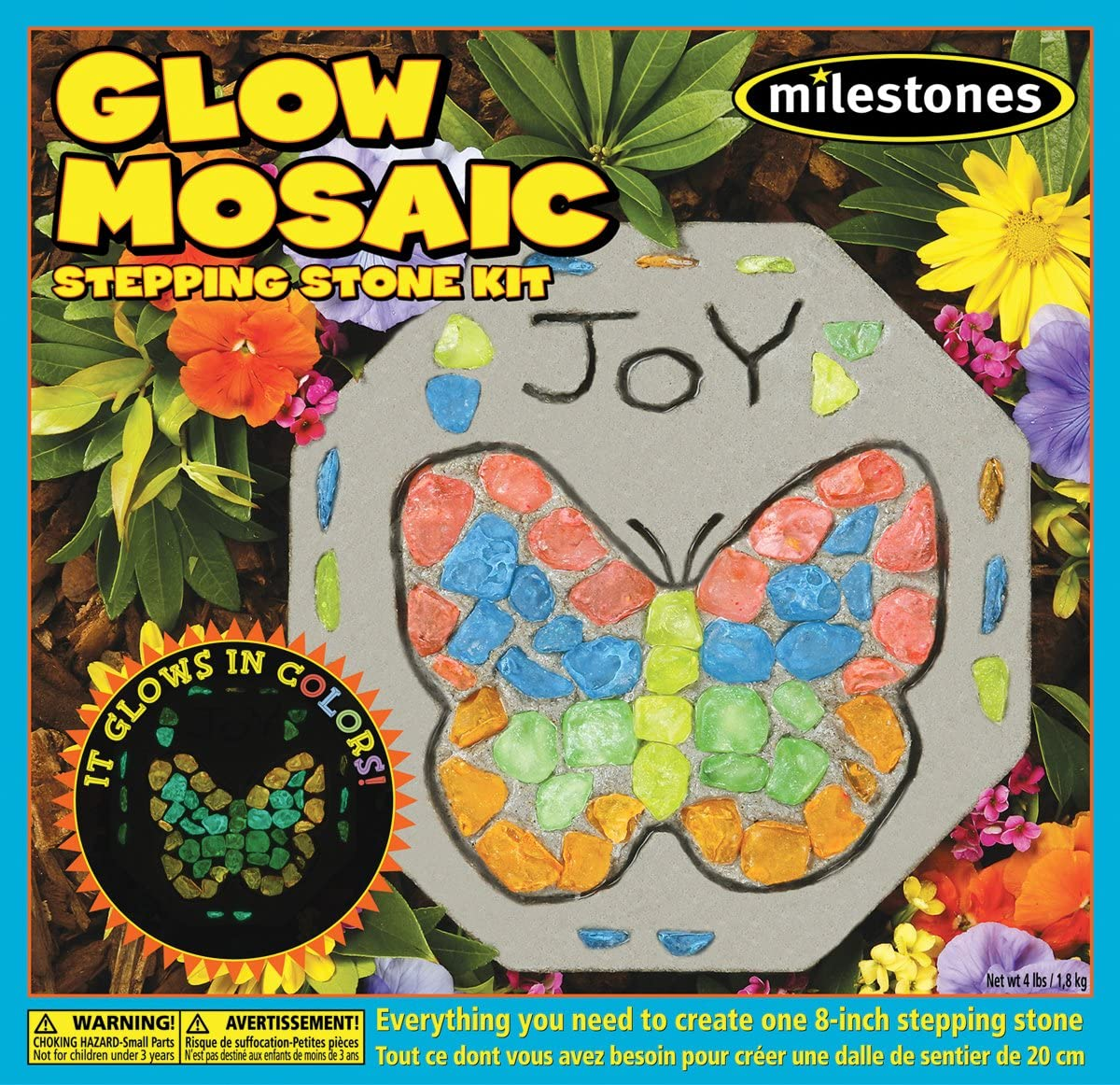 Midwest Products 90111244 Mosaic Stepping Stone Kit, Glow In The Dark