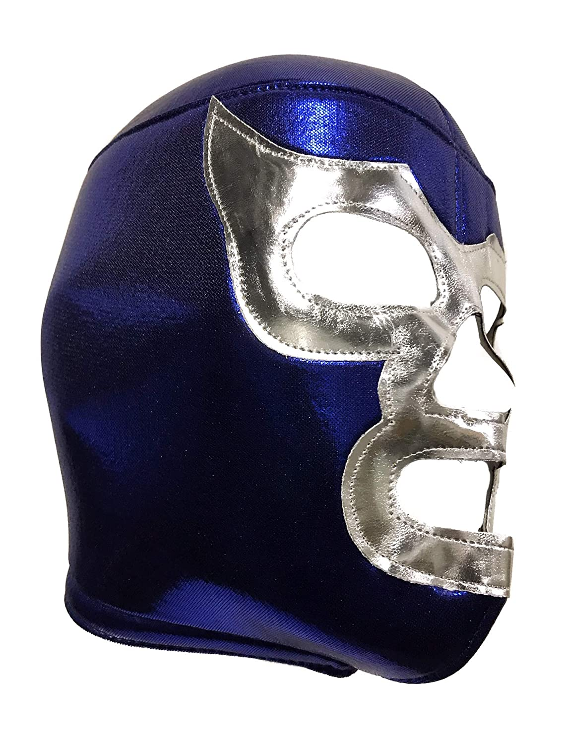Amazon.com: BLUE DEMON Adult Lucha Libre Wrestling Mask (pro-fit) Costume Wear - Blue: Clothing