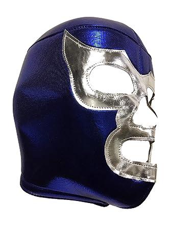Amazon.com: BLUE DEMON Adult Lucha Libre Wrestling Mask (pro-fit) Costume Wear - Blue: Clothing