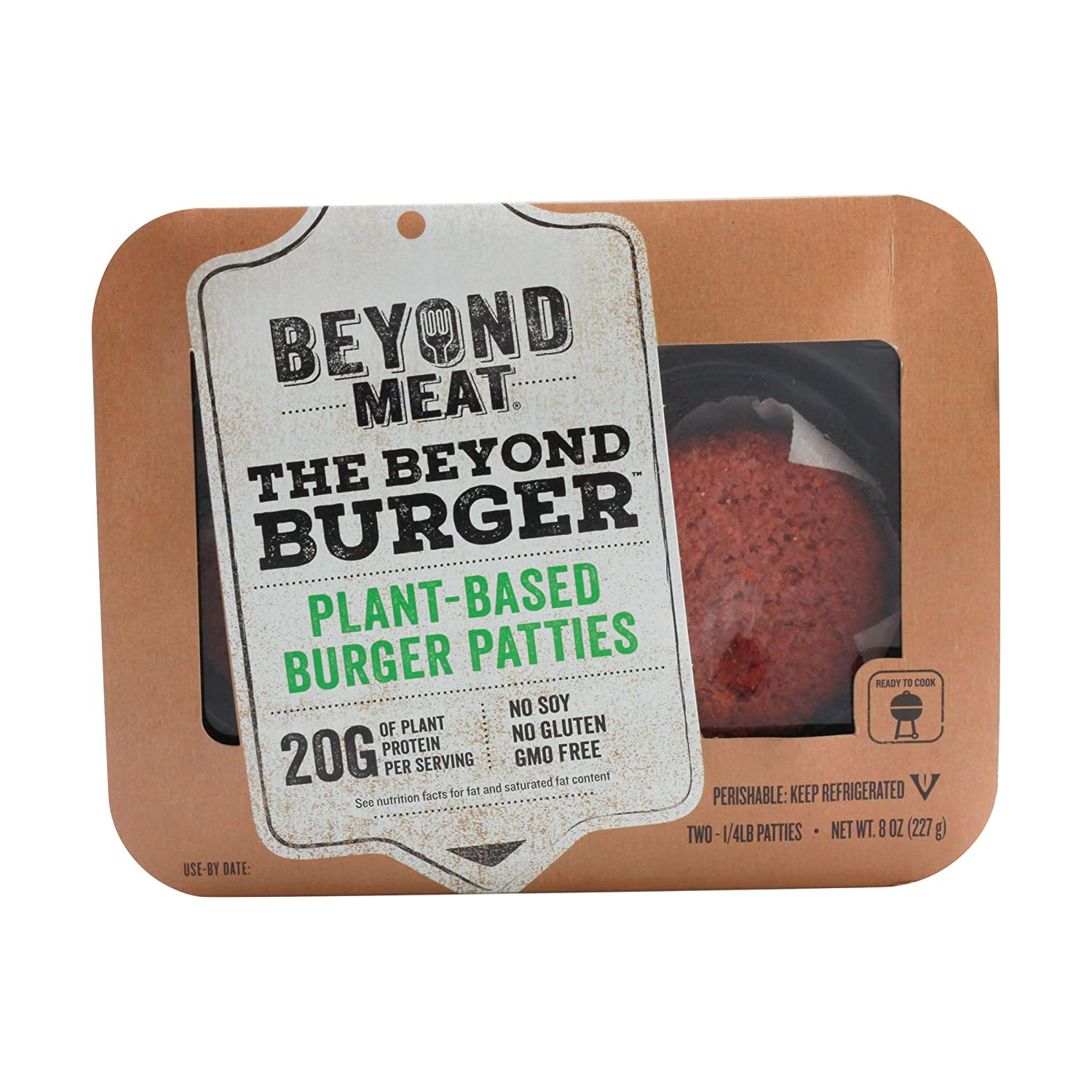 Beyond Meat Plant-based Burger Patties, 8 oz (4 Pack, 8 Patties Total) 81FTCSfKH7L._SL1500_