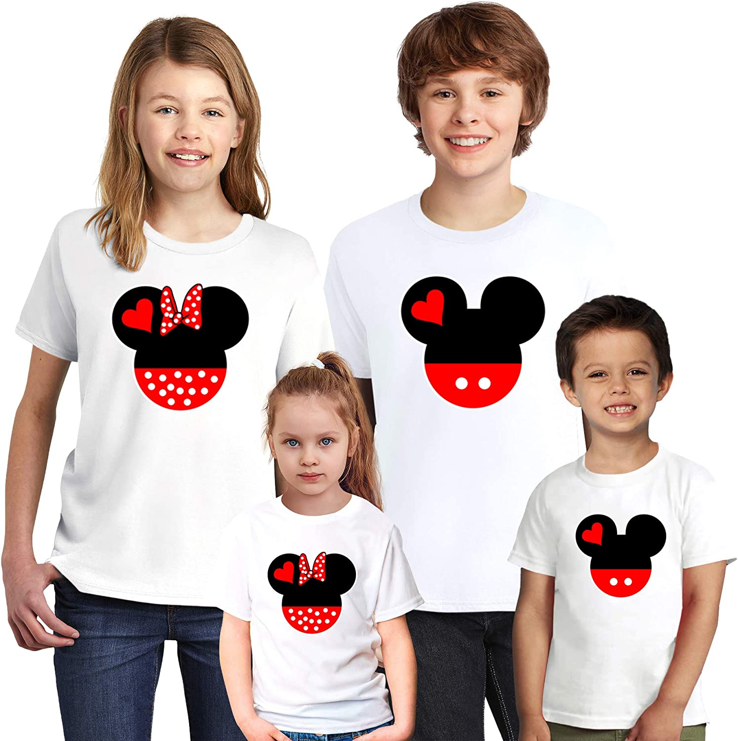 Natural Underwear Mickey Minnie Mouse Youth Kids Toddler Boys Girls T-Shirts
