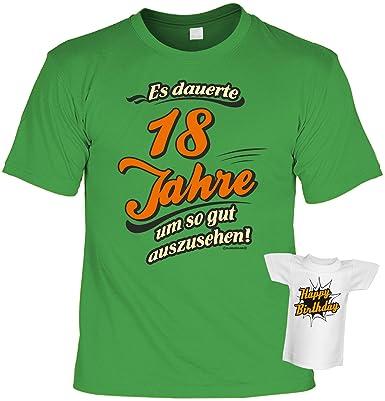 Cooles T Shirt Zum 18 Geburtstag Volljährigkeit Mini Shirt
