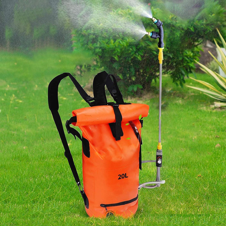 PaNt 20L Plegable Mochila pulverizador,Rociador de malezas de jardín con Boquilla rociadora,Utilizado para Control de plagas, riego con pesticidas, desinfección de Jardines