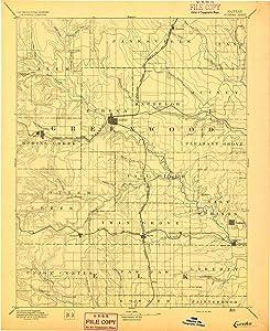 YellowMaps Eureka KS topo map, 1:125000 Scale, 30 X 30 Minute, Historical, 1894, 20 x 16.31 in