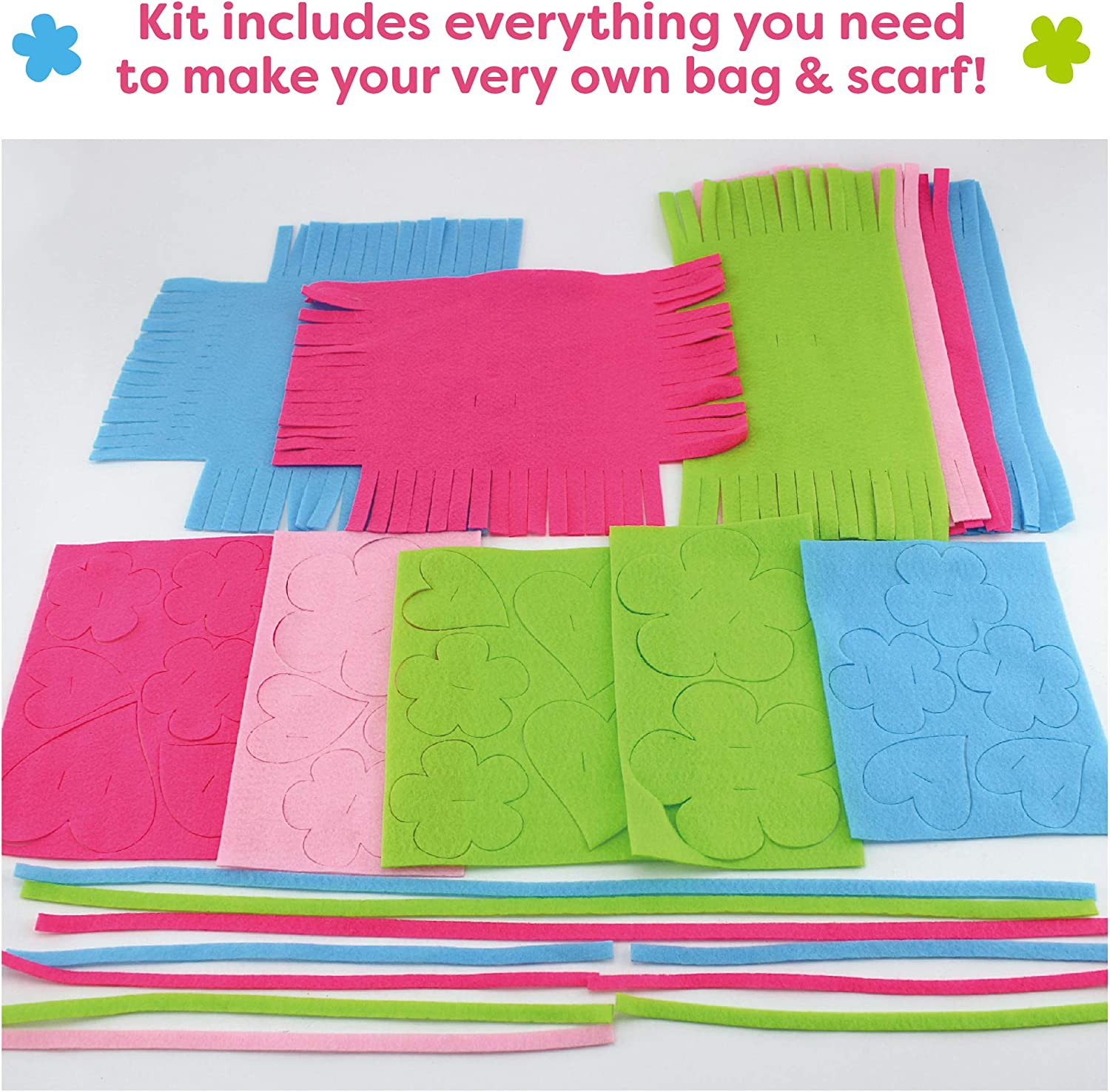 Arts and Crafts Set for Ages 6 and Up Knot a Purse and Scarf No Sew Craft Kit for Girls