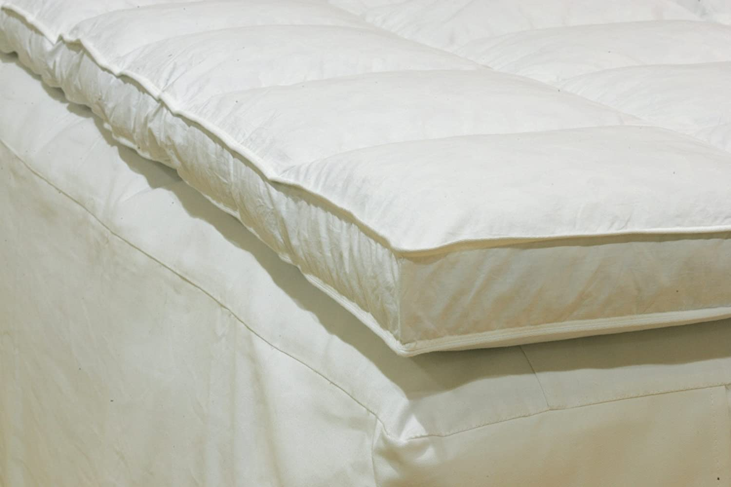 Topper Cover and Two Classic Contour Pillows and King Size 3 Inch Thick 4 Pound Density Visco Elastic Memory Foam Mattress Bed Topper Made in The USA