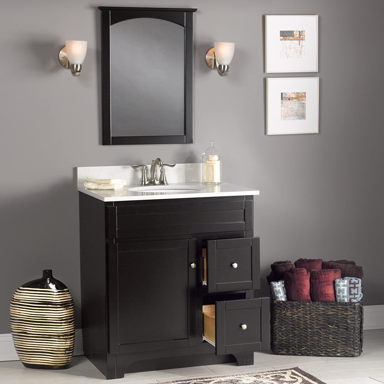 less for espresso of vanity ideas finish wodfreview dark cabinets bathroom elegant inspirational vanities