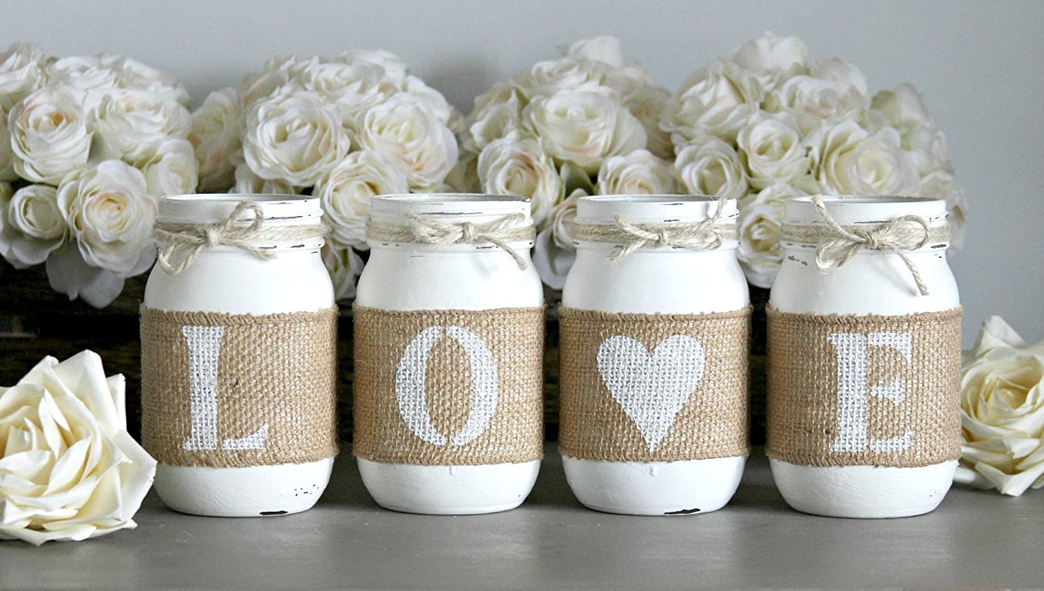 Luxury Wedding Table Centerpieces With Mason Jars Vignette - The ...