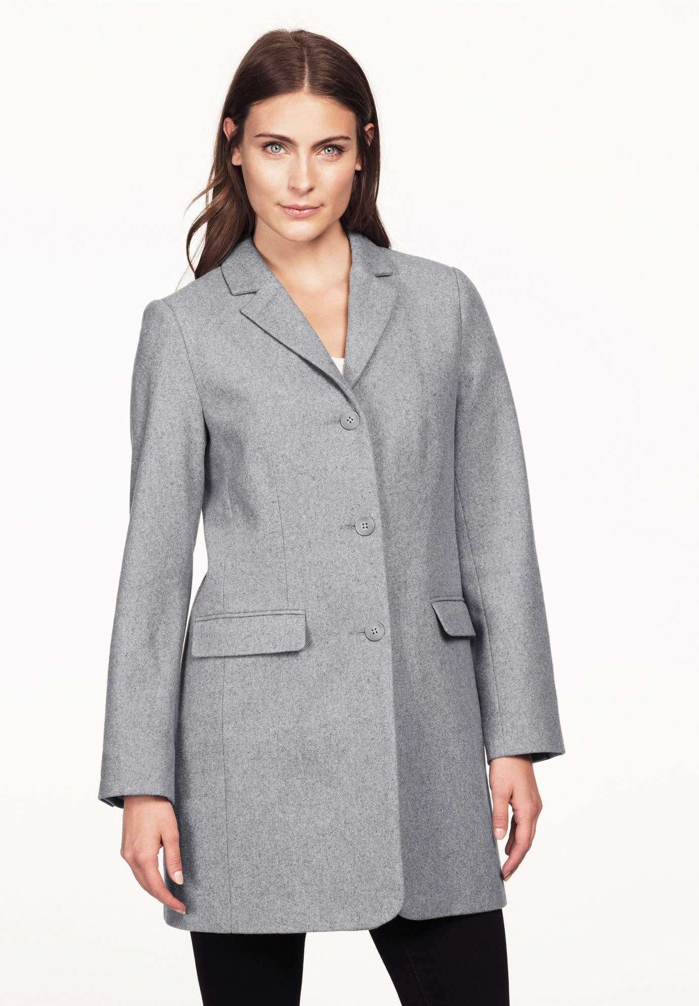 Ellos Women's Plus Size Long Wool Blend Blazer