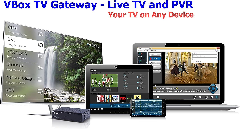 VBox TV Gateway XTi 3342, 2 sintonizadores, televisión y radio abierta gratis, streaming de señal TDT en la red doméstica (DVB-T sobre IP)