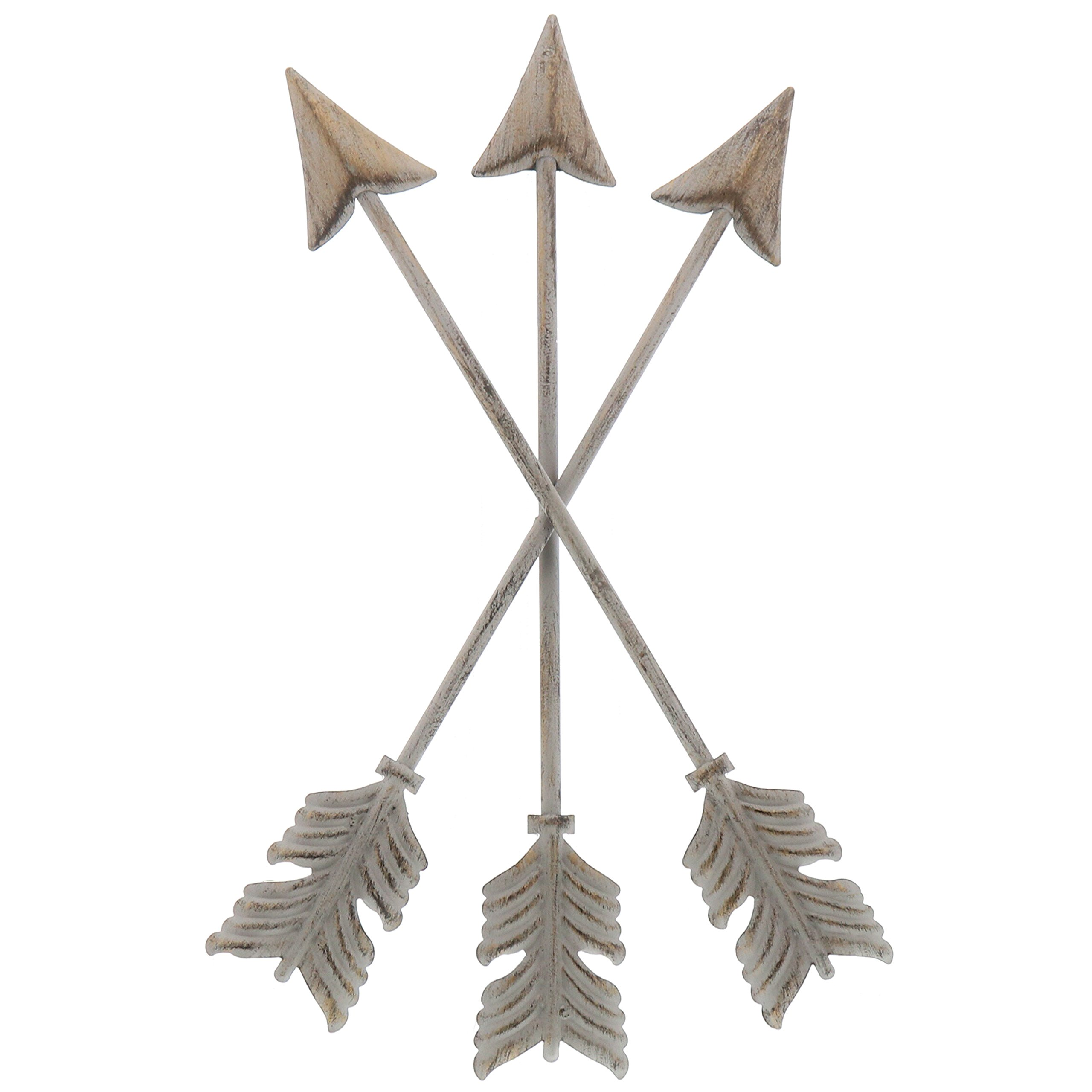 Barnyard Designs Metal Arrow Wall Decor, Rustic Native American Wall Art Arrows 13'' x 8.25'' by Barnyard Designs
